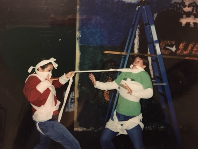 We obviously played a critical role in decorating the float.