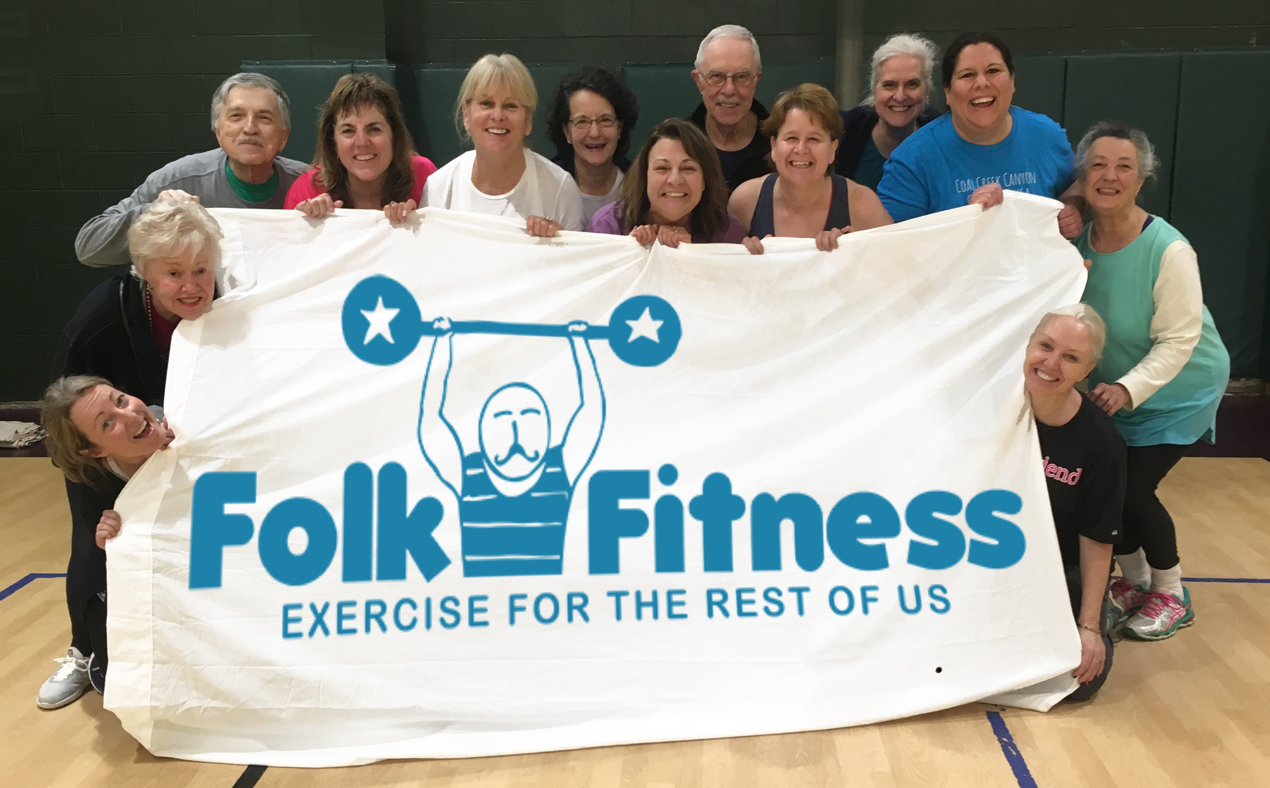 Folk Fitness banner Created by The Bowerbird Agency