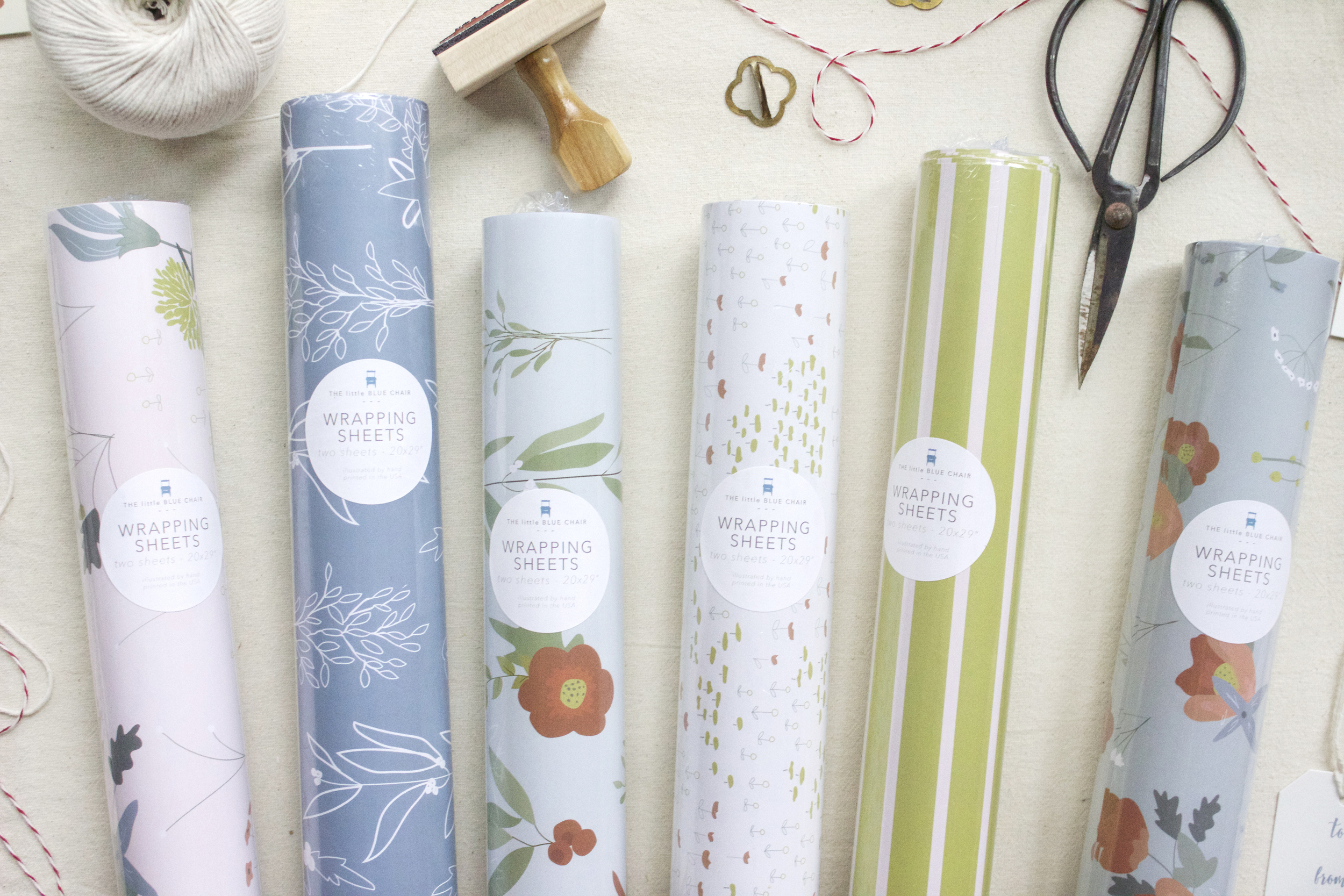 """GIFT WRAP   two sheets per roll, 20x29"""""""