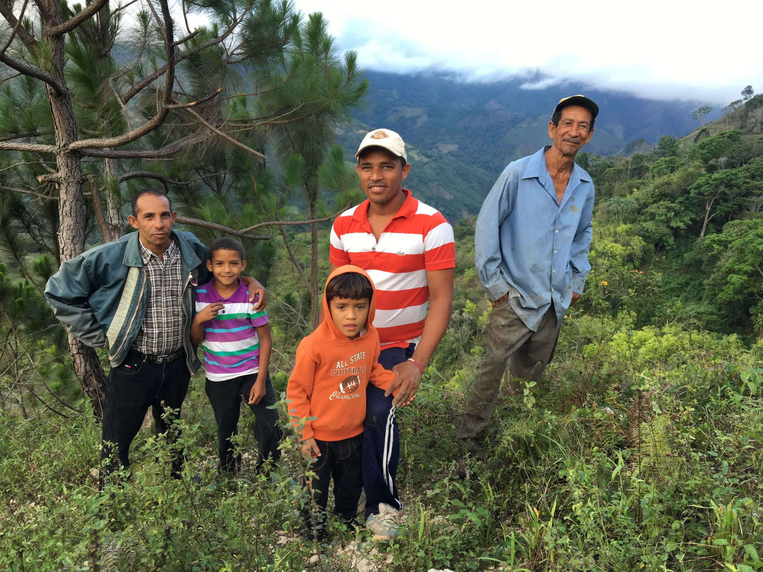 The Ramirez family, multi-generational coffee farmers in El Naranjito, Dominican Republic