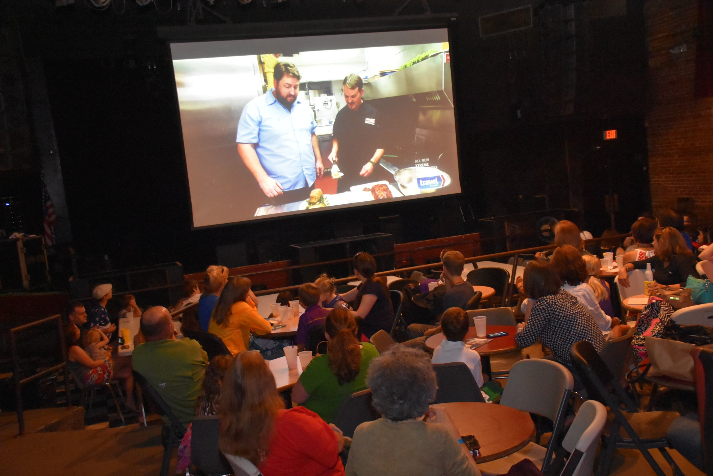 Jay Ducote pilot for Deep Fried America airs on Travel Channel. The viewing party was held at The Varsity in Baton Rouge.