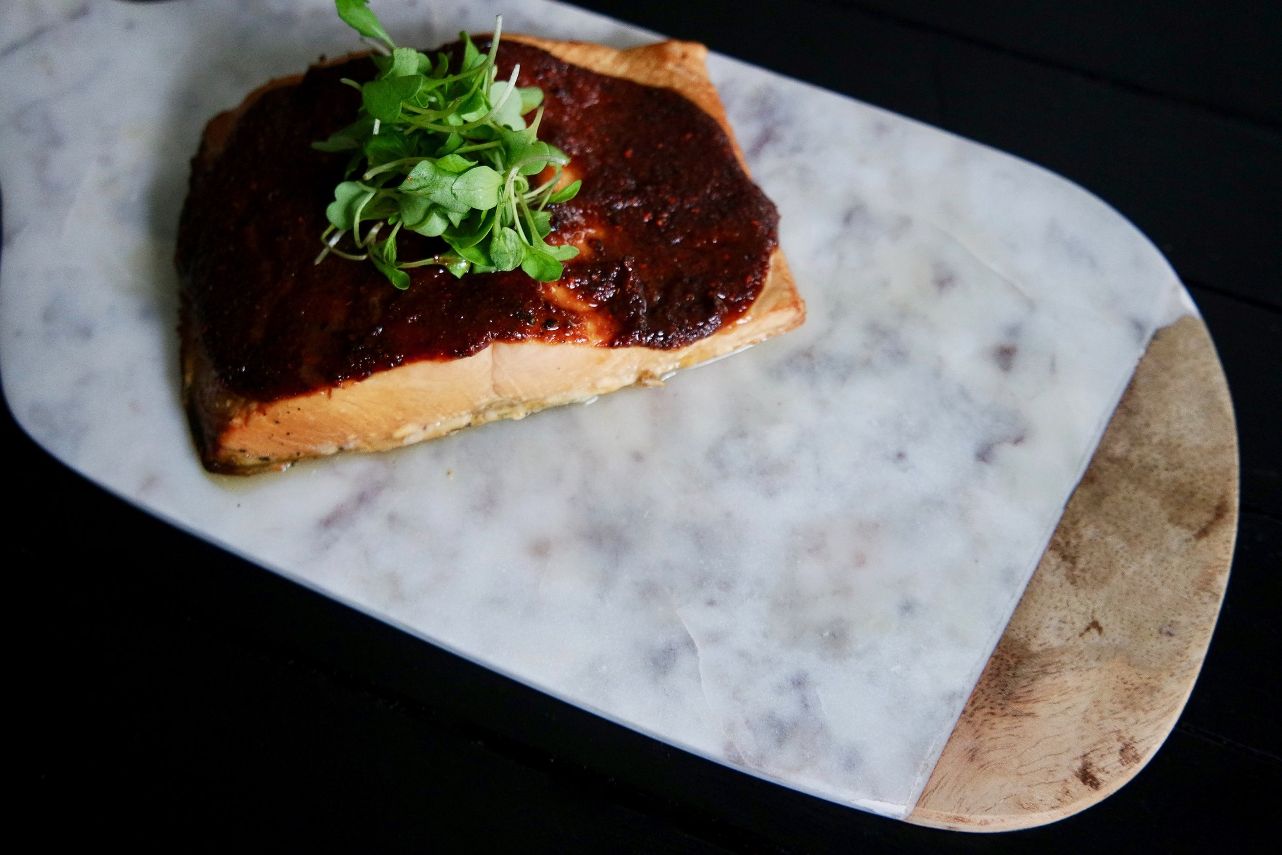 Molasses Mustard Salmon