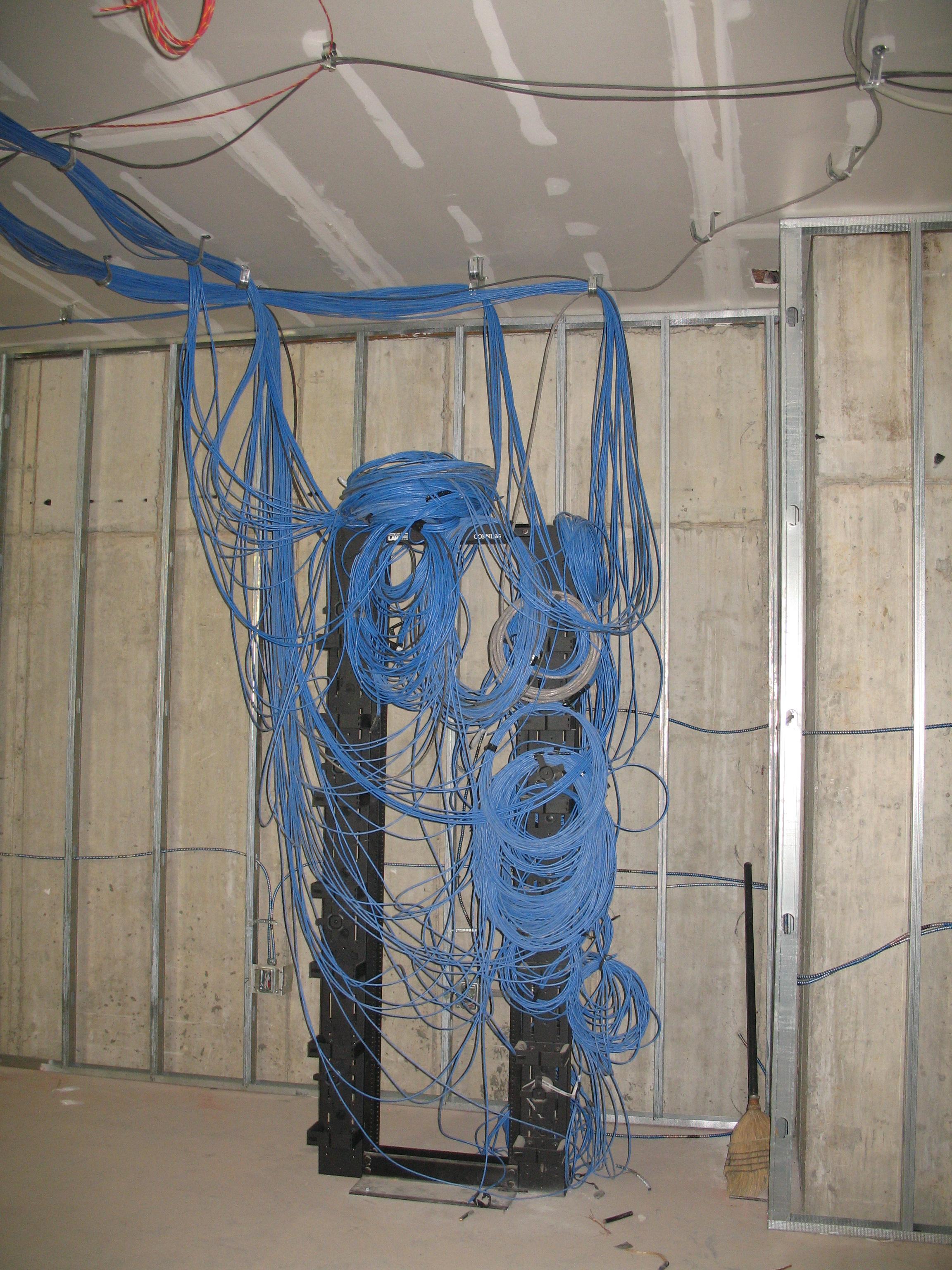 Bringing in the wiring.JPG