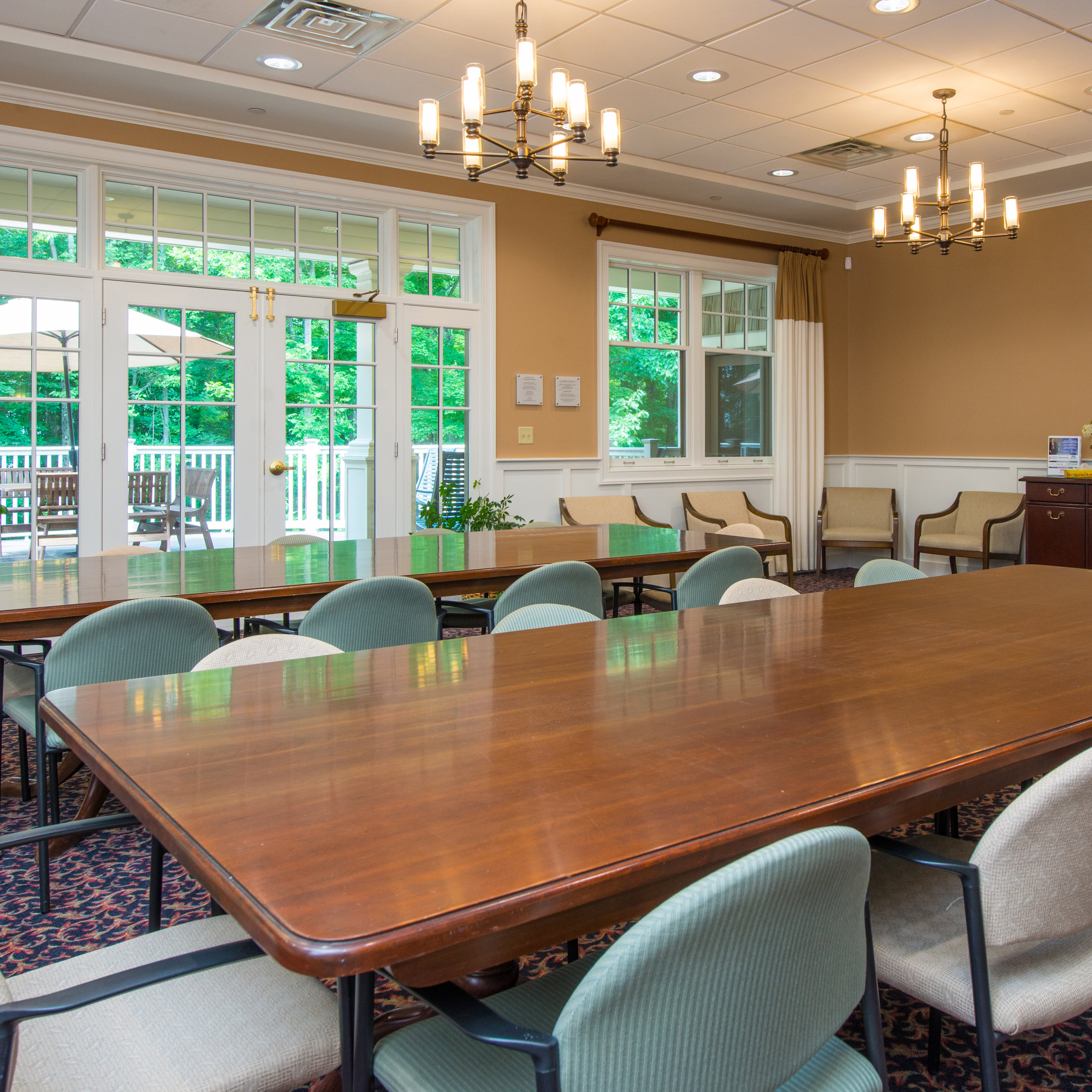 $500 to sustain our 1st floor conference room off the deck