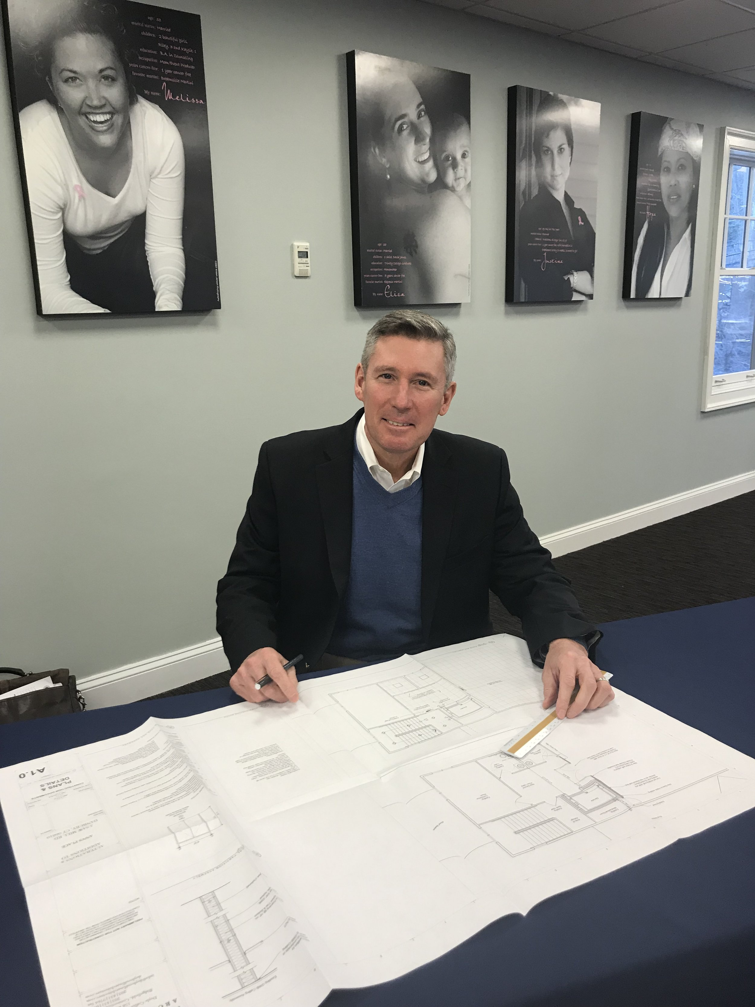 Doyle Coffin Architecture created the original plans for Ann's Place and John Doyle came back to help with the conference room upgrade.
