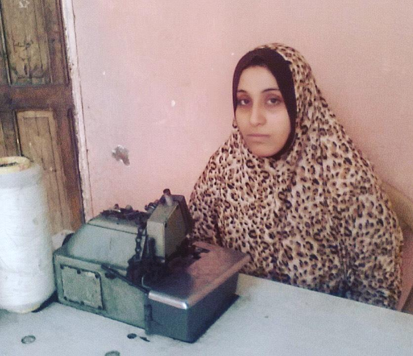 Amani - Amani is in Palestine and she's 25 years old. Her loan is for a sewing machine, yarn and fabric.