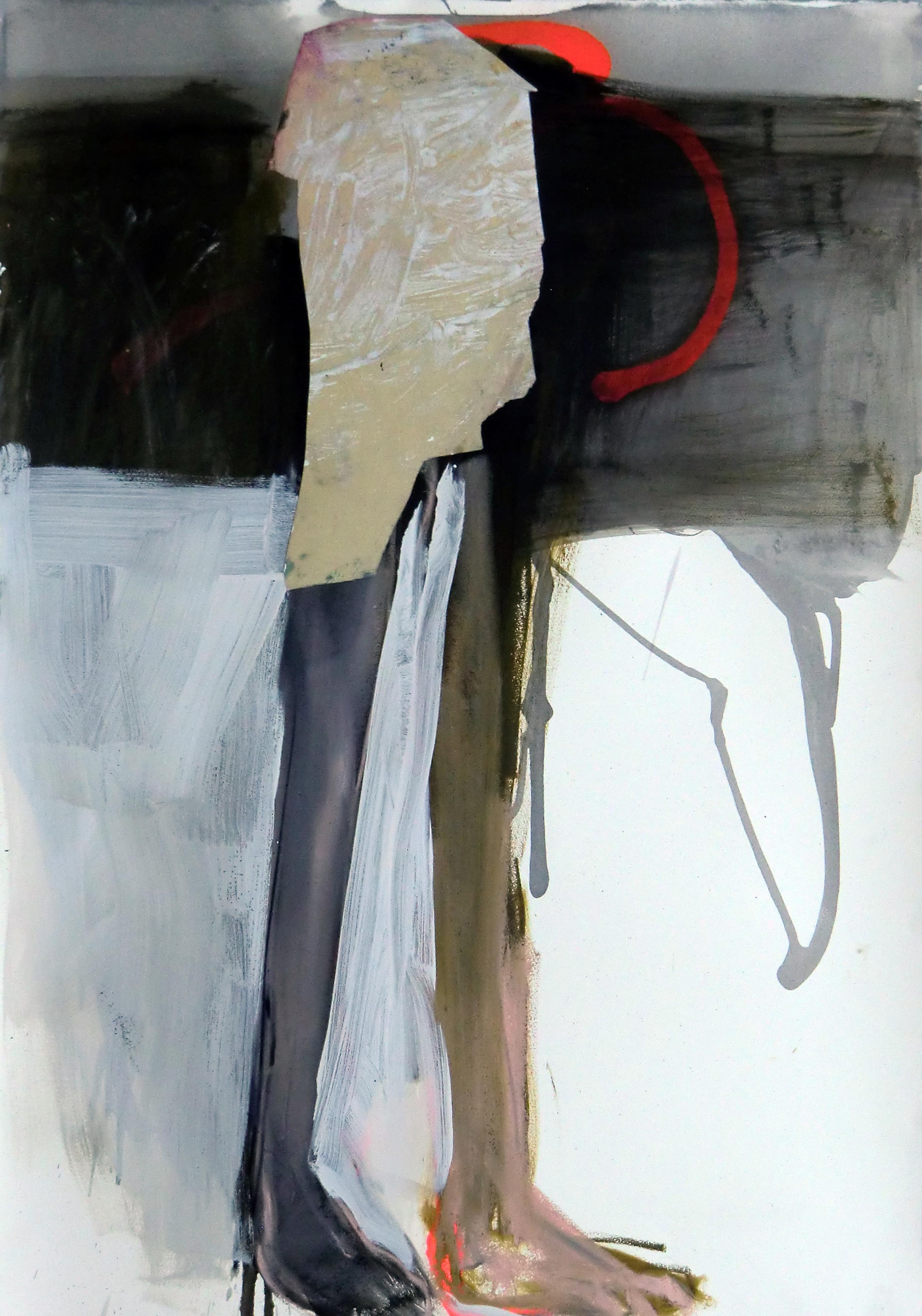 Série nº 14 Técnica Mista sobre Papel 107 x 70 cm 2009/2012