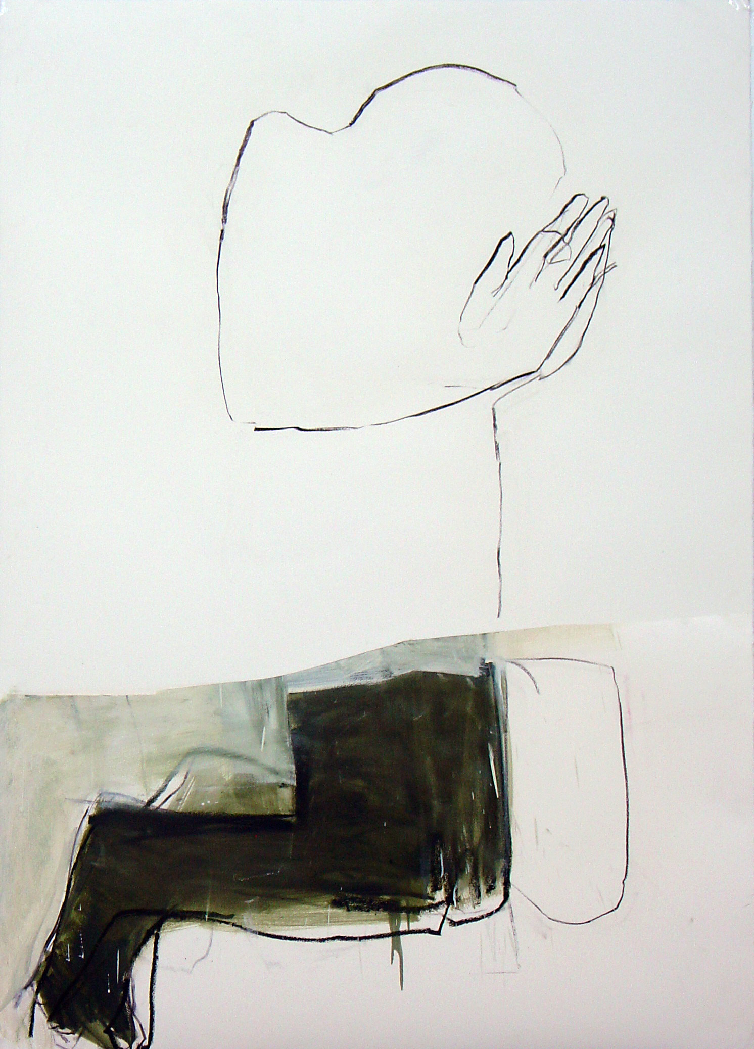 Série nº 14 Técnica Mista sobre Papel 150 x 110 cm 2009/2012