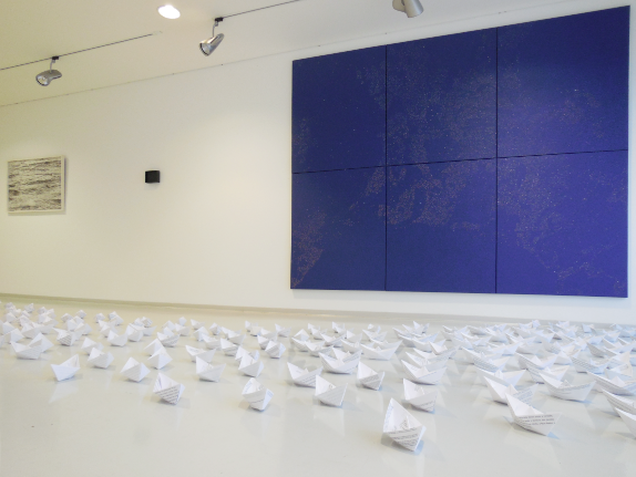 Seventy Times Seven Installation View IHK, Würzburg A4 Paper Sheets Variable Size  2005-2015