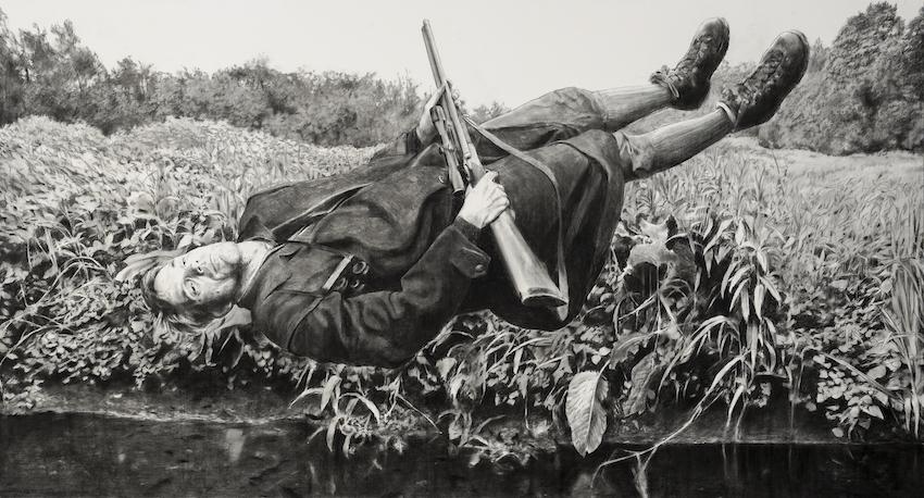 Grafite sobre papel, 150x270 cm