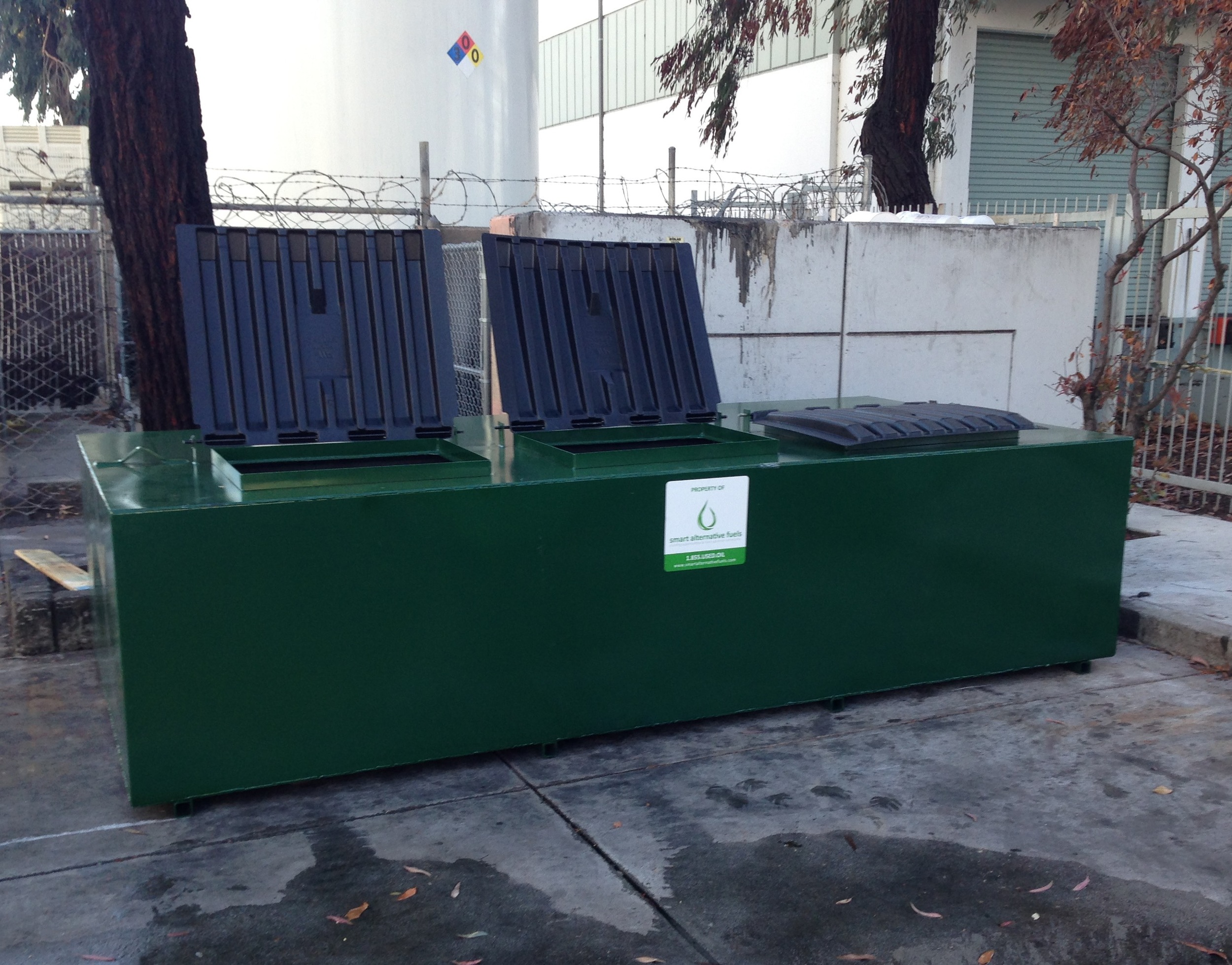 smart alternative fuels storage container