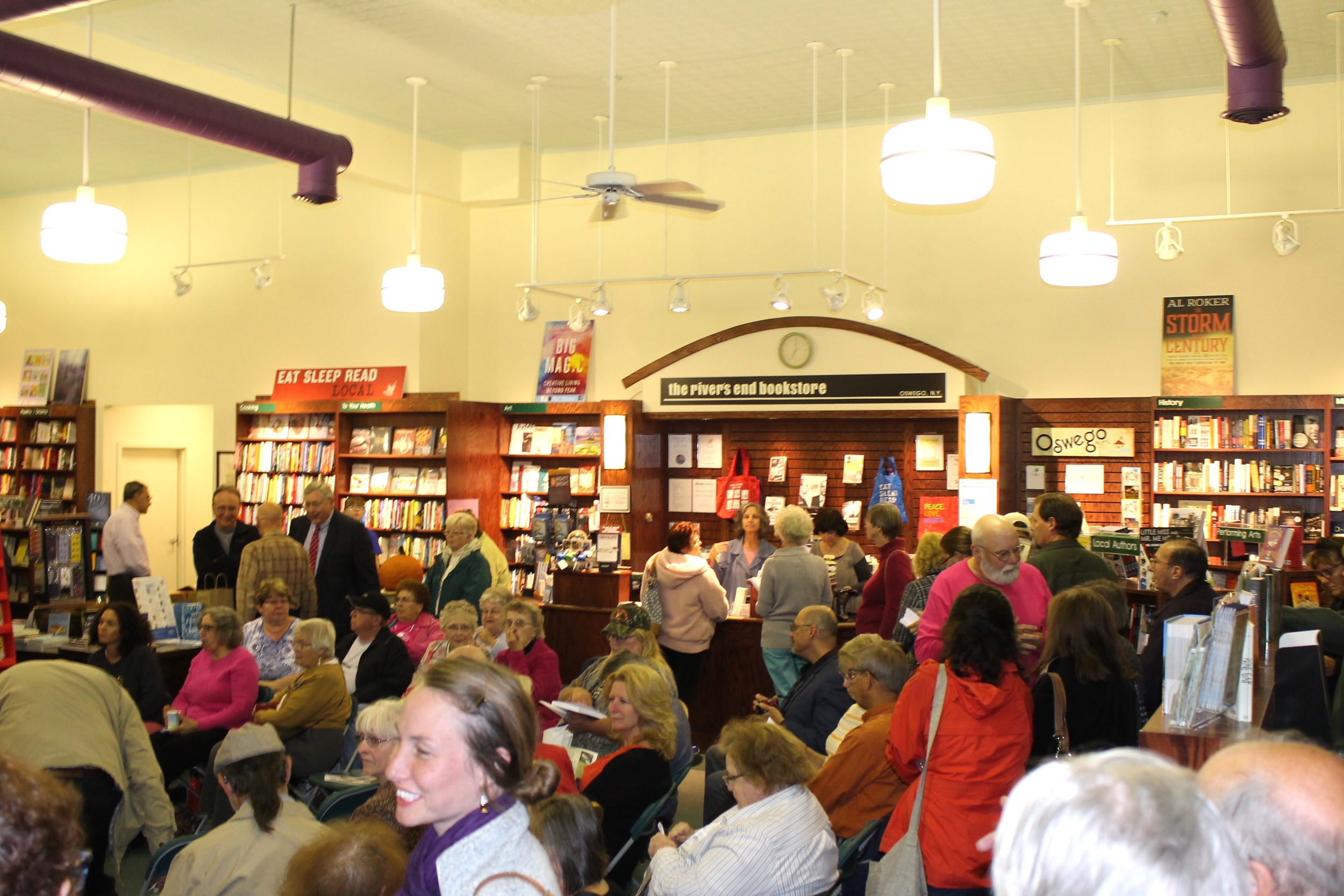 river's end bookstore on October 15, 2015, for the launch of my Blizzard of '66 and Bob Sykes books.