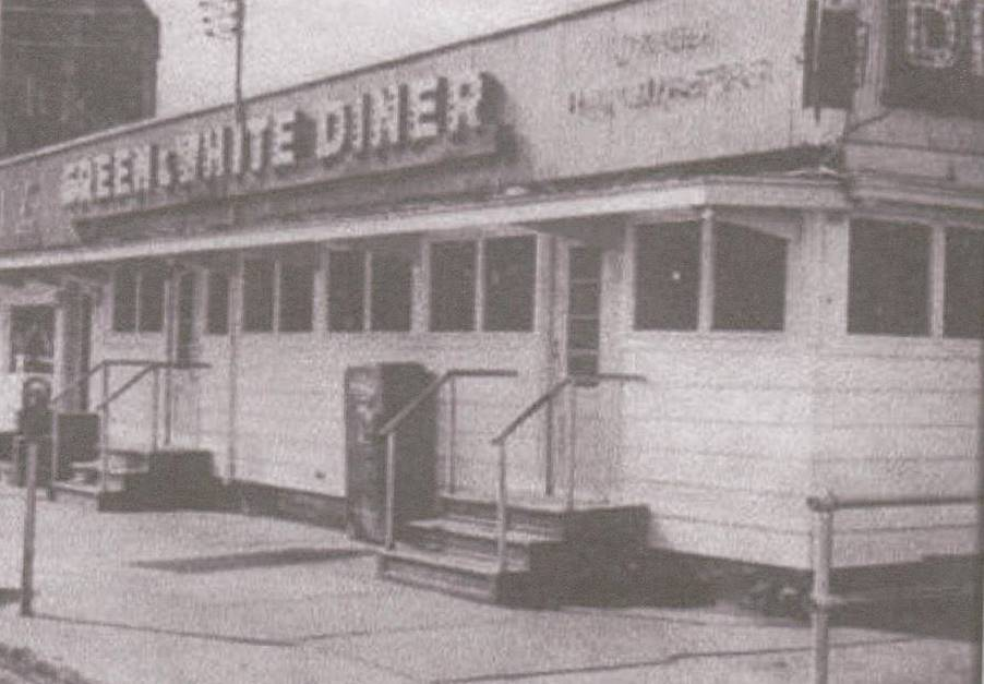 The Green & White Diner, one of my favorite restaurants in my hometown of Fulton's Dizzy Block.
