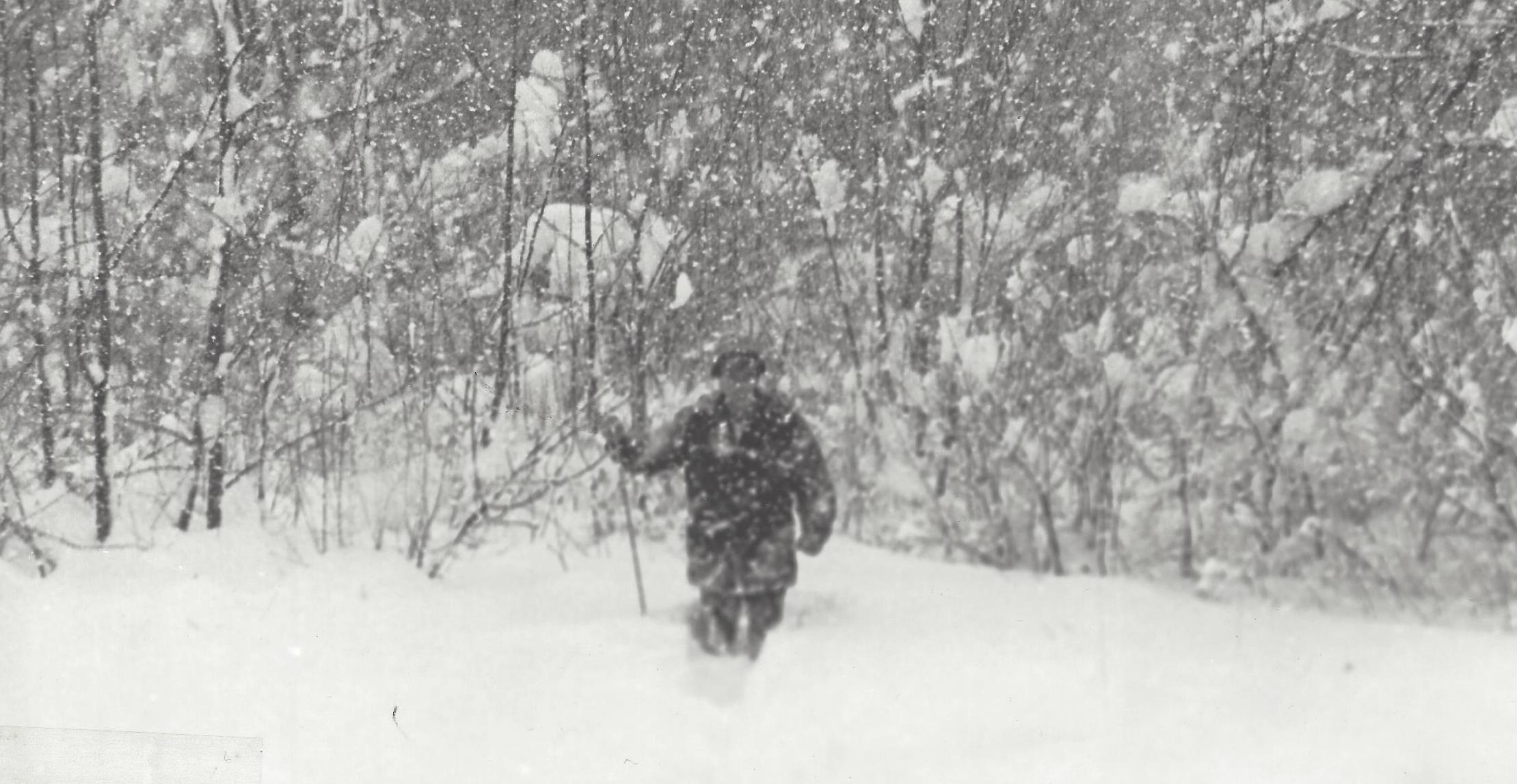 Lots of people measure snow, like this unidentified SUNY Oswego meteorology student, but few have been doing so as long as John Florek, Fulton's Waterworks Department Supervisor.