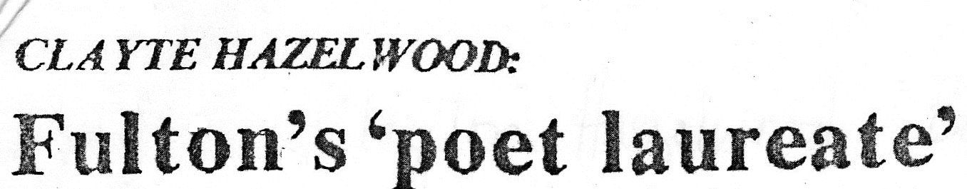 In 1975, this headline appeared as a Fulton newspaper.