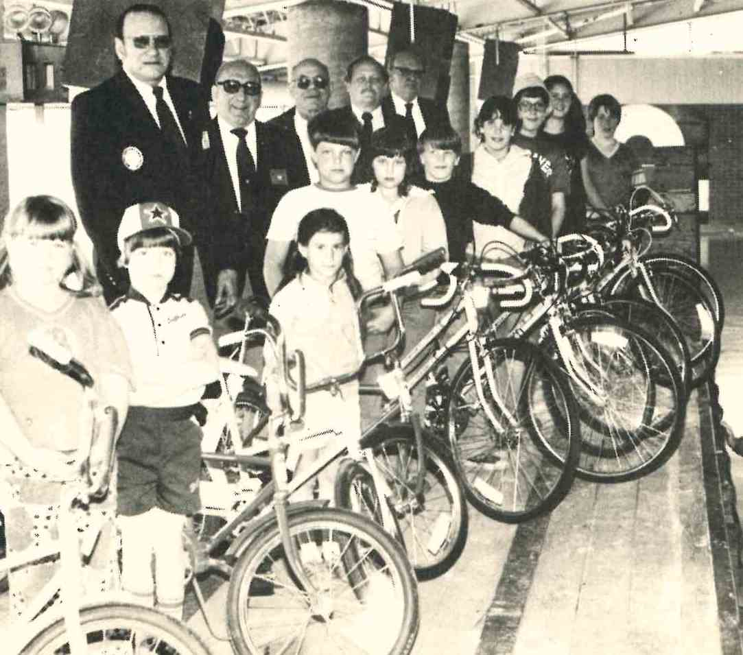 This 1982 photo show lucky Fulton children who won bicycles at the Elks' annual May Day celebration.