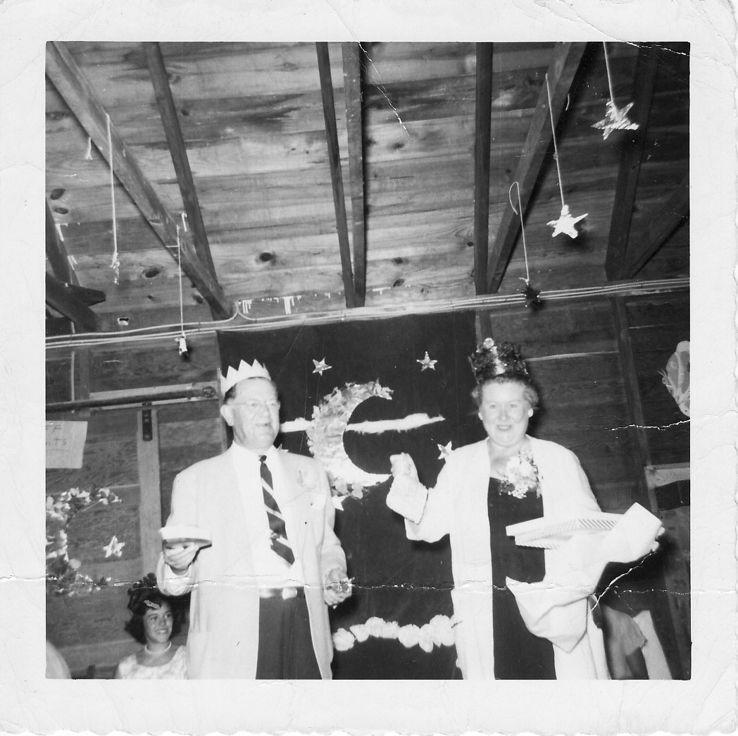 Judge Eugene Sullivan, founder of Camp Hollis, and his wife, Ruth, shown enjoying the festivities at the camp in the summer  of 1958.
