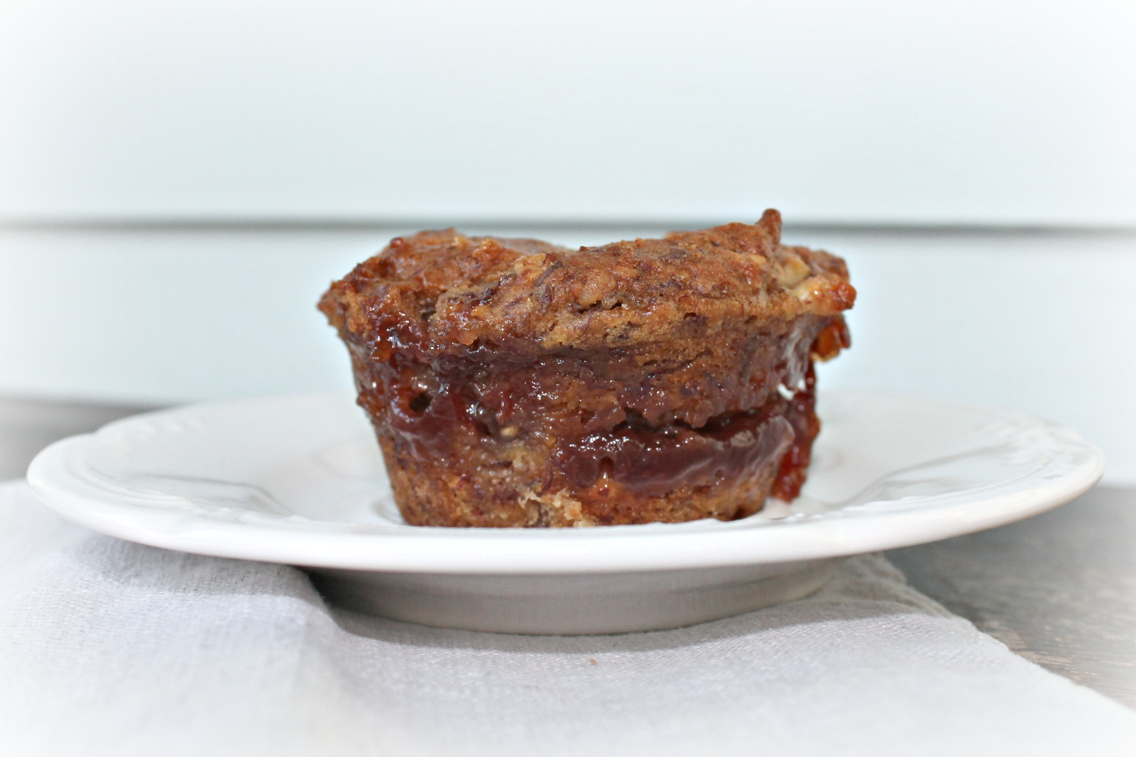 PB&J Vegan Gluten-Free Banana Muffins recipe. www.fernsandpeonies.com
