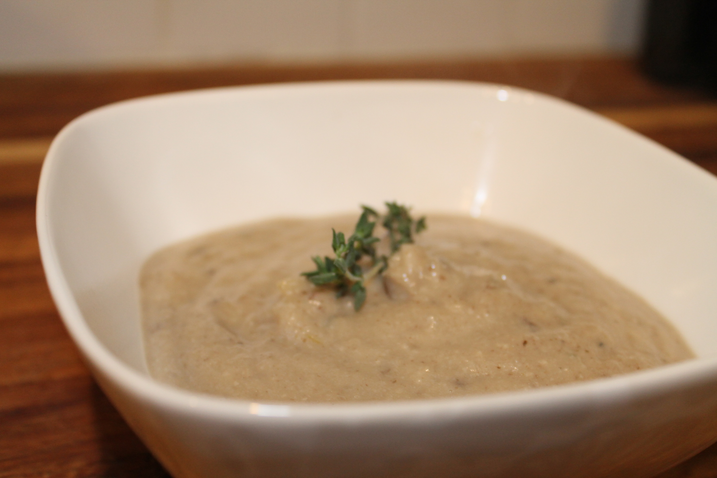 Roasted Fennel Mushroom Soup—Gluten-free and Vegan. By www.fernsandpeonies.com