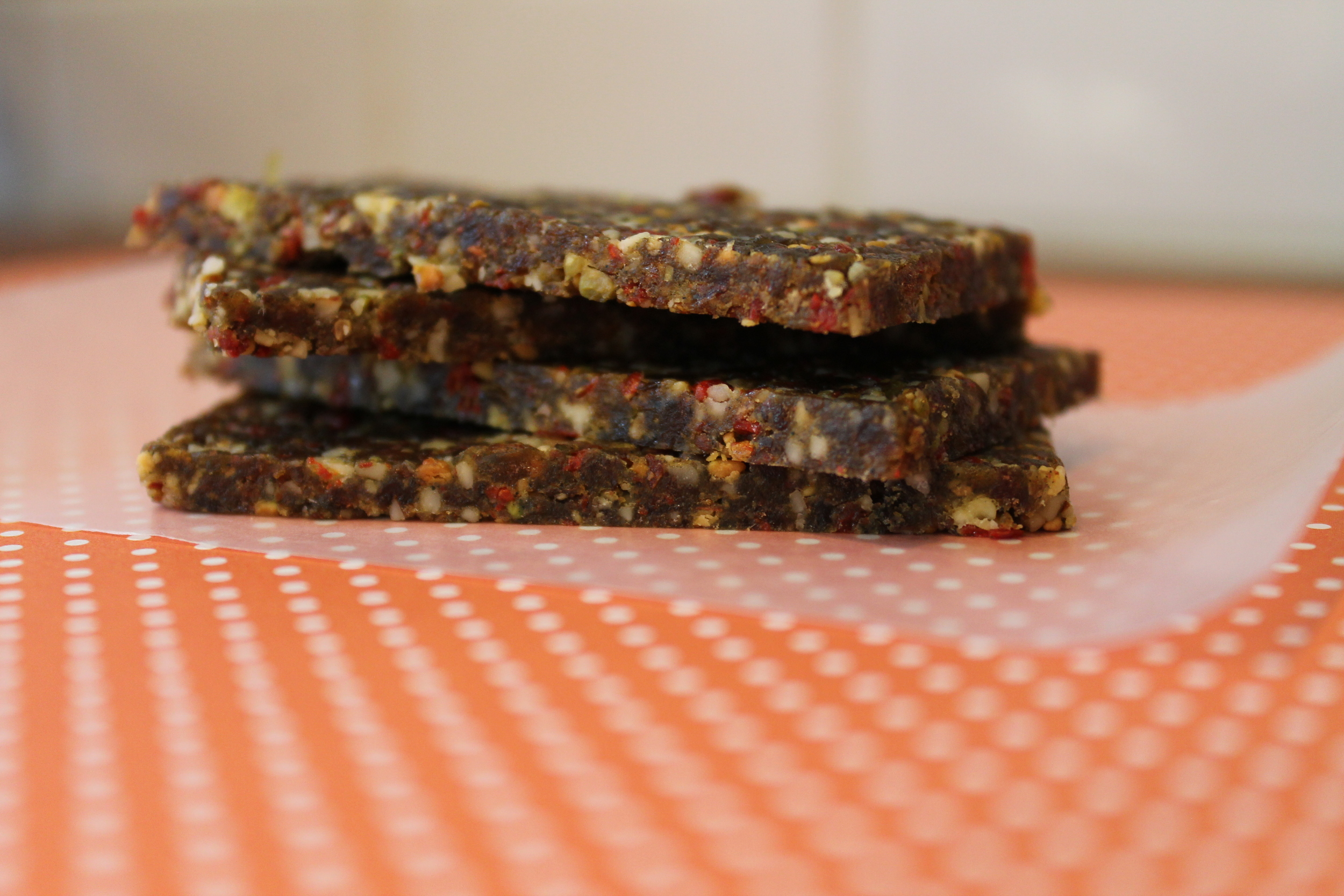 Limiting Processed Sugar—Week 1, Phase 1: Why and How. Includes recipe for a raw, vegan, gluten-free and paleo Lemon Pistachio Goji Berry Raw Bar. www.fernsandpeonies.com