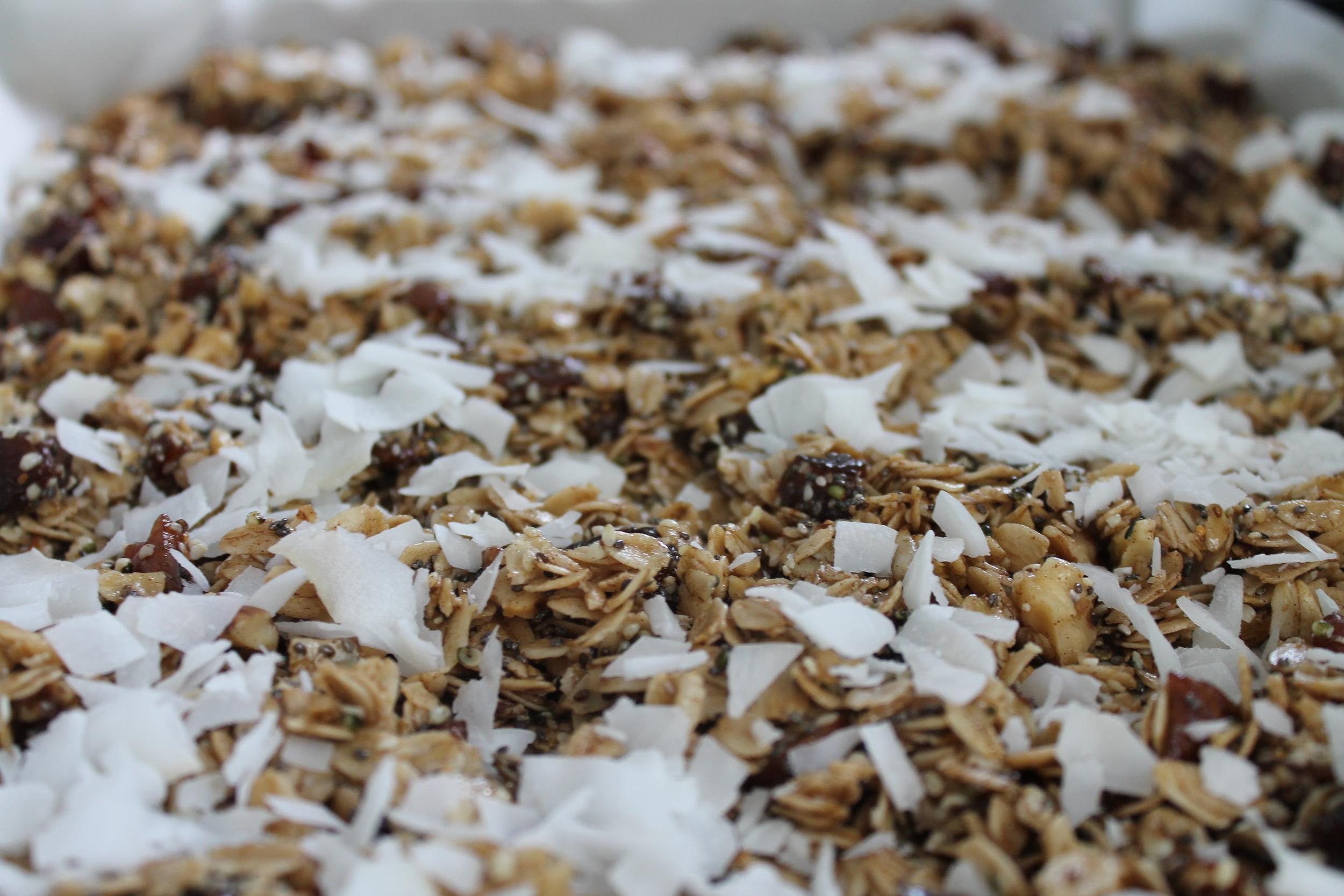 Gluten-free, vegan and refined sugar-free Fig & Apricot Mediterranean Granola recipe from Ferns & Peonies. Find this gluten-free and vegan recipe and more at www.fernsandpeonies.com
