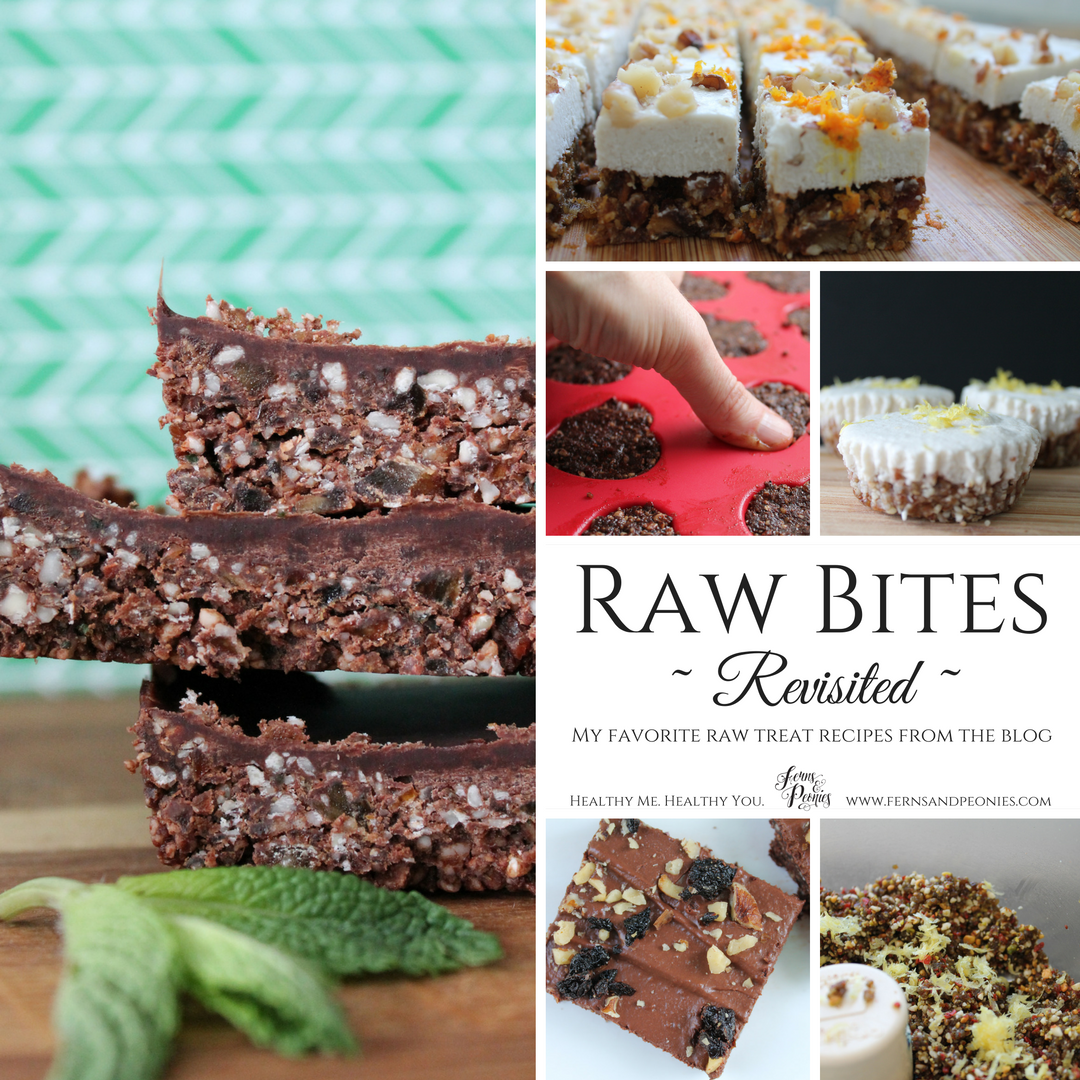 Raw Bites Revisited—6 delicious raw treats in one stop! Find this and more at www.fernsandpeonies.com