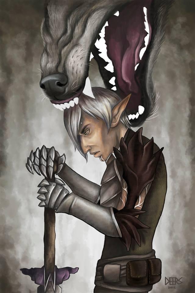 fenris (dragon age 2 print)