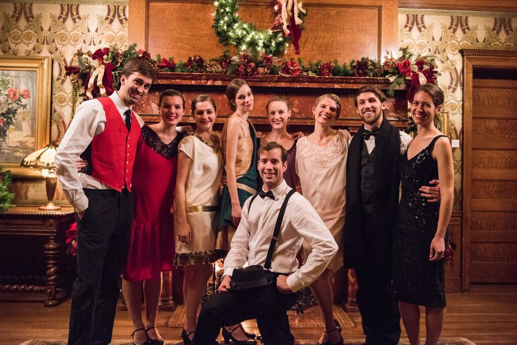 Municipal Ballet Co. backstage at the McCune Mansion, before our 2016 River of Rosewater performance
