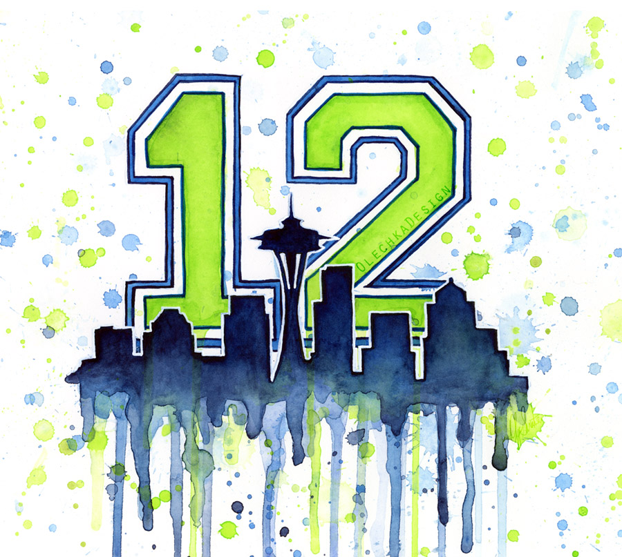 Seattle Seahawks 12th Man Art