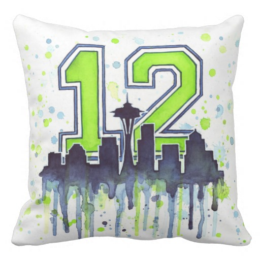 Seattle 12th Man Pillow