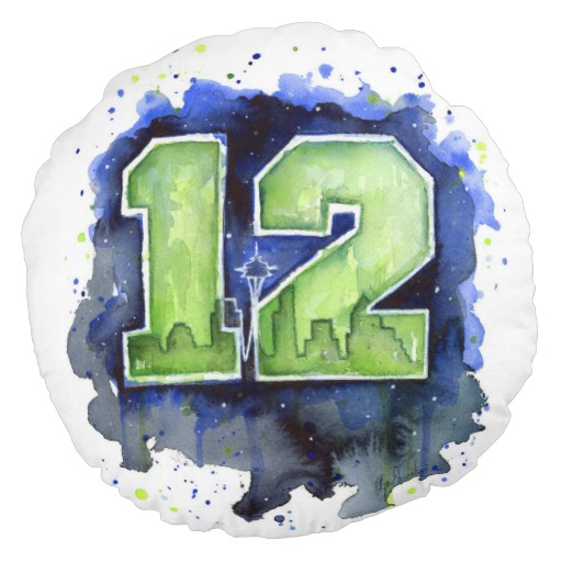 Seahawks 12th Man Pillow - Night Sky