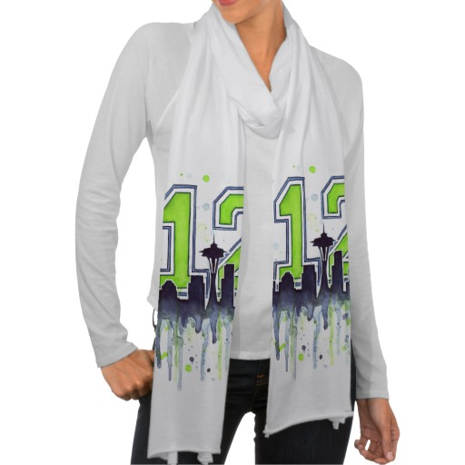 Seahawks Scarf 12th Man Fan Art
