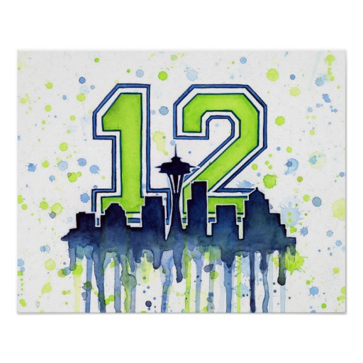 Seattle 12th Man Poster