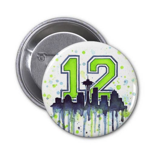 12th Man Buttons Seattle