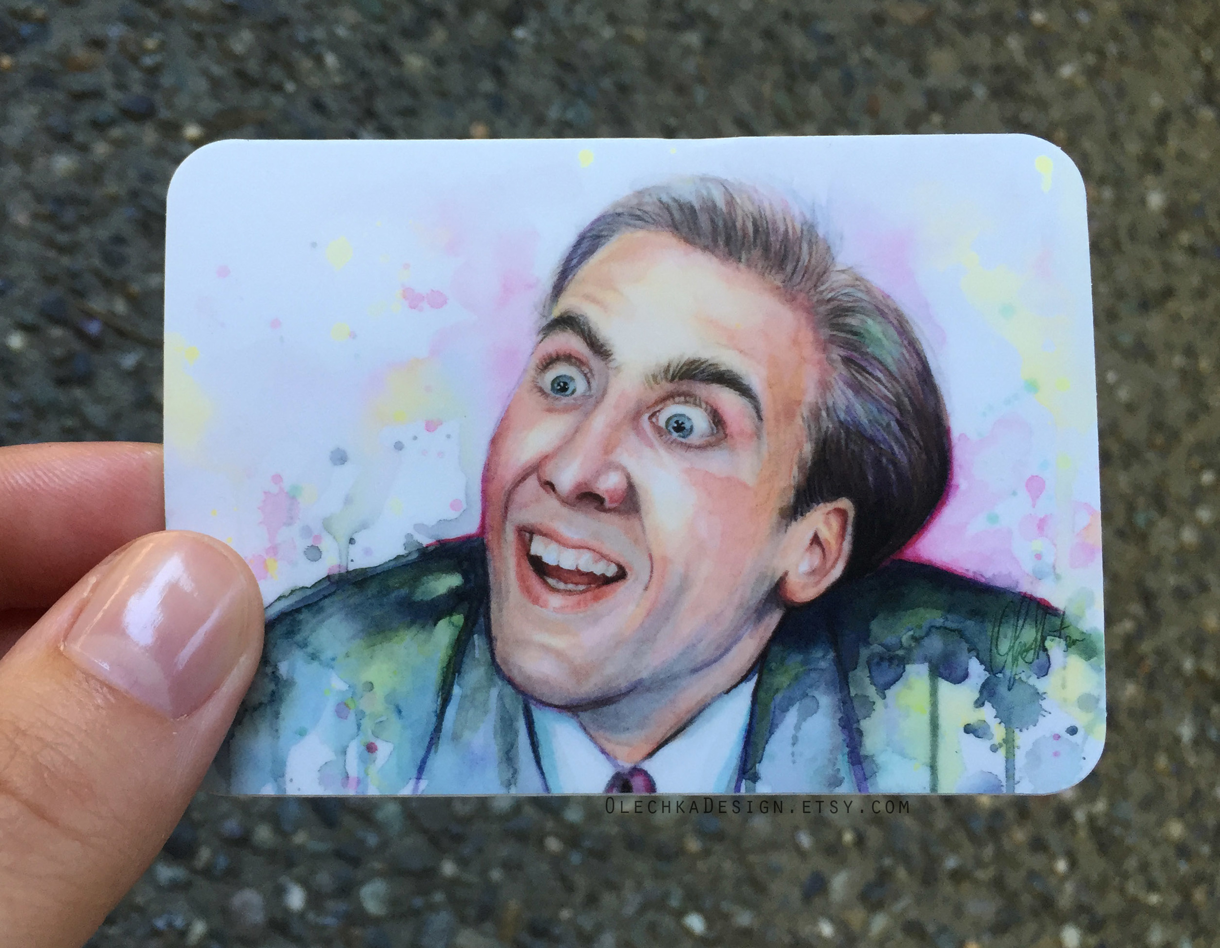 Nicolas Cage Meme Sticker