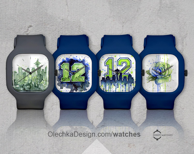 Seattle 12th Man Watch Collection. Go Hawks!