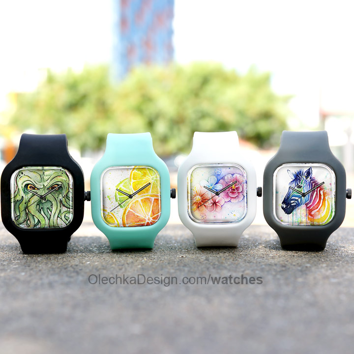 colorful art watches
