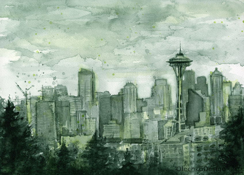 Seattle-skyline-watercolor-space-needle-olechkadesign.jpg