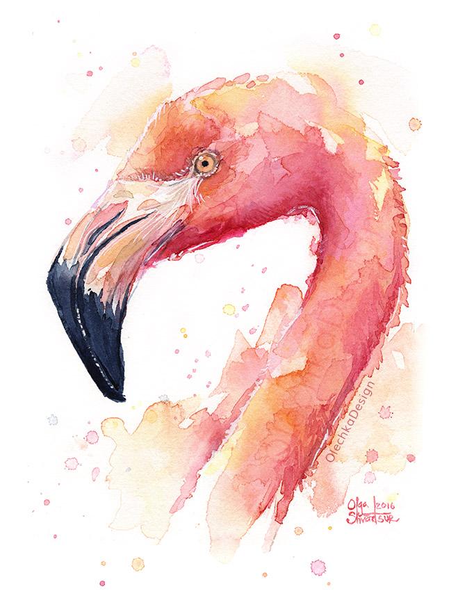 Flamingo_Pink_Bird_watercolor_OlechkaDesign.jpg