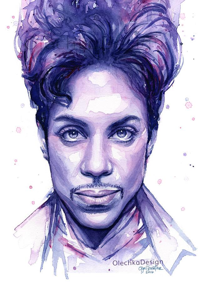 Prince watercolor portrait.