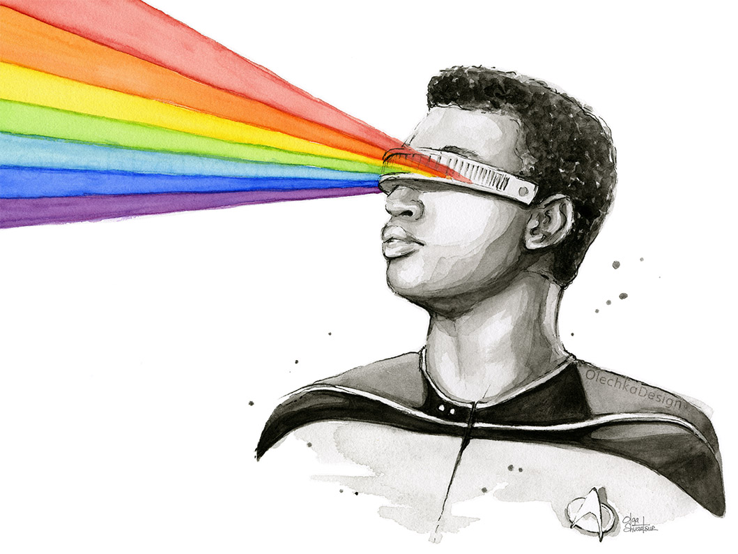 Geordi-Laforge-rainbow-Portrait-watercolor-olechkadesign.jpg