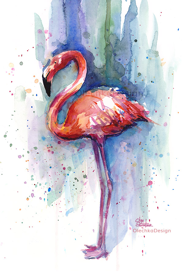 Flamingo-Pink-watercolor-painting-OlechkaDesign.jpg