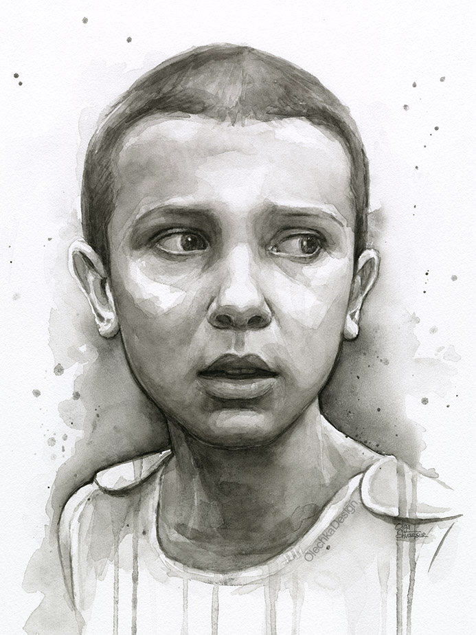stranger things eleven art