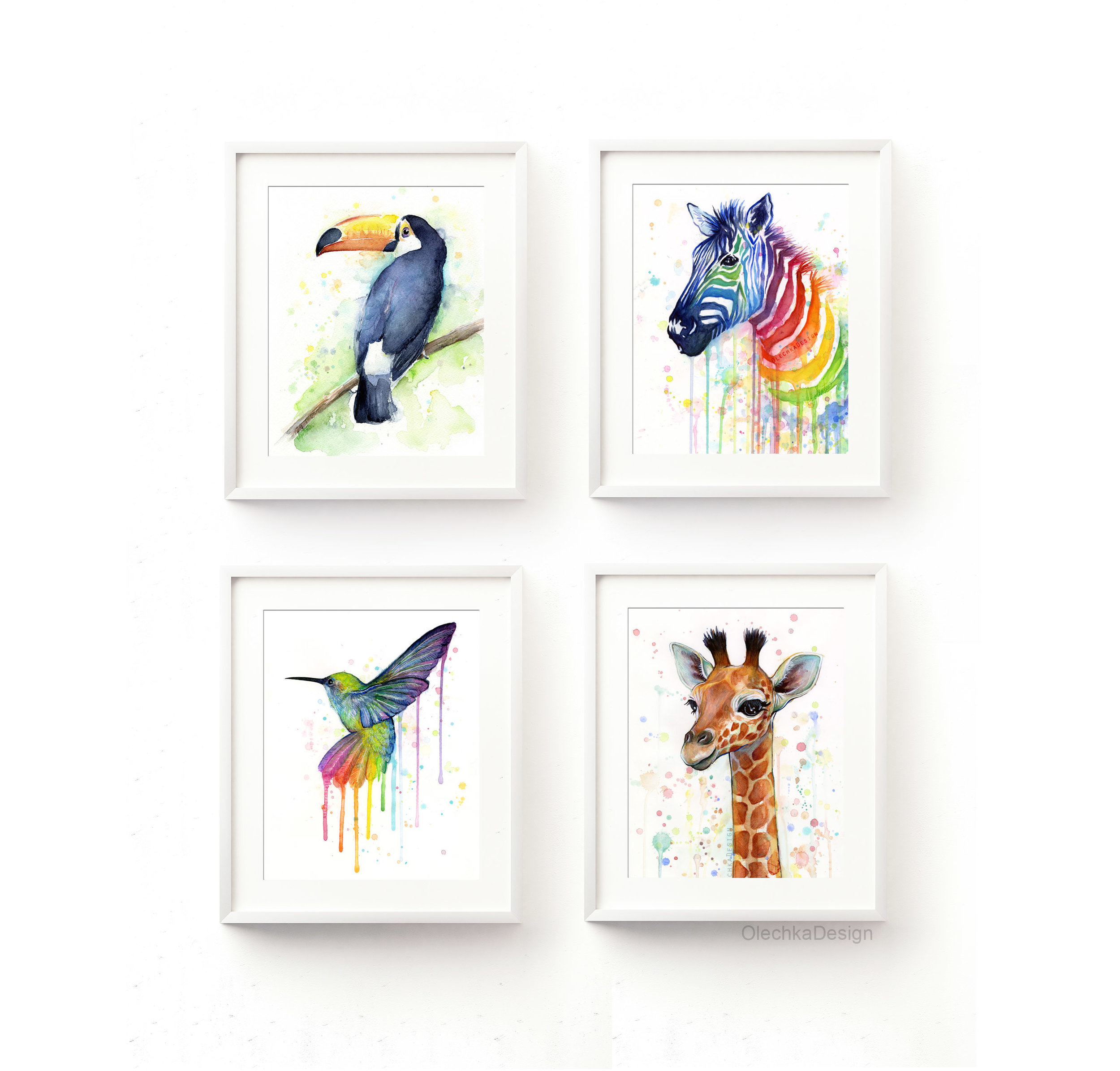 rainbow-nursery-animal-decor