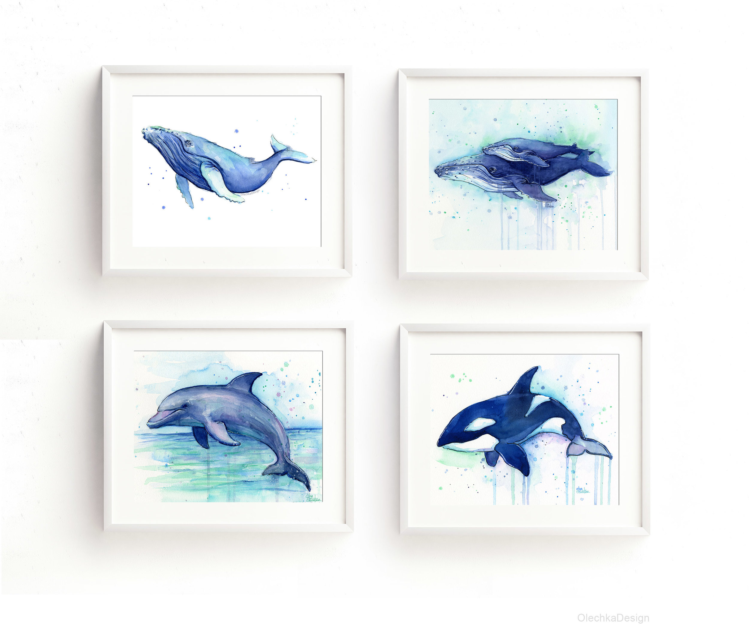 Sea-creatures-watercolor-nursery-prints-dolphin-orca-humpback-whales-framed.jpg