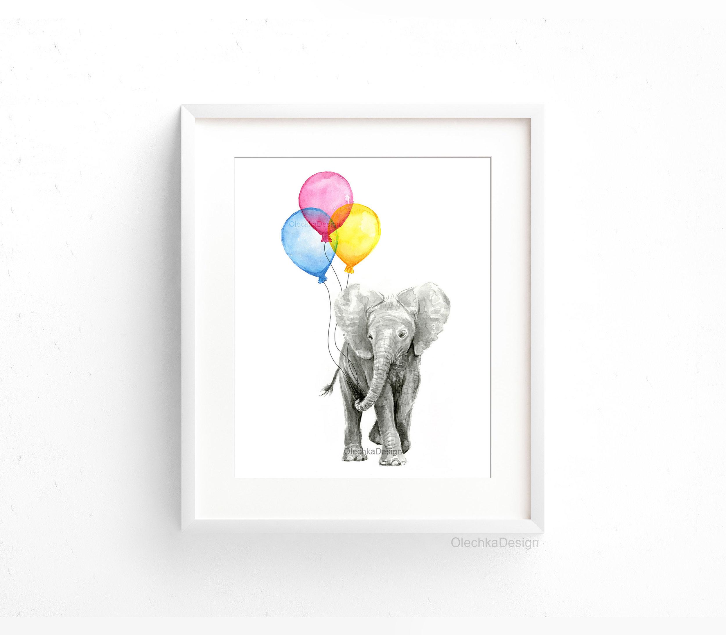 baby-elephant-balloons-nursery-art