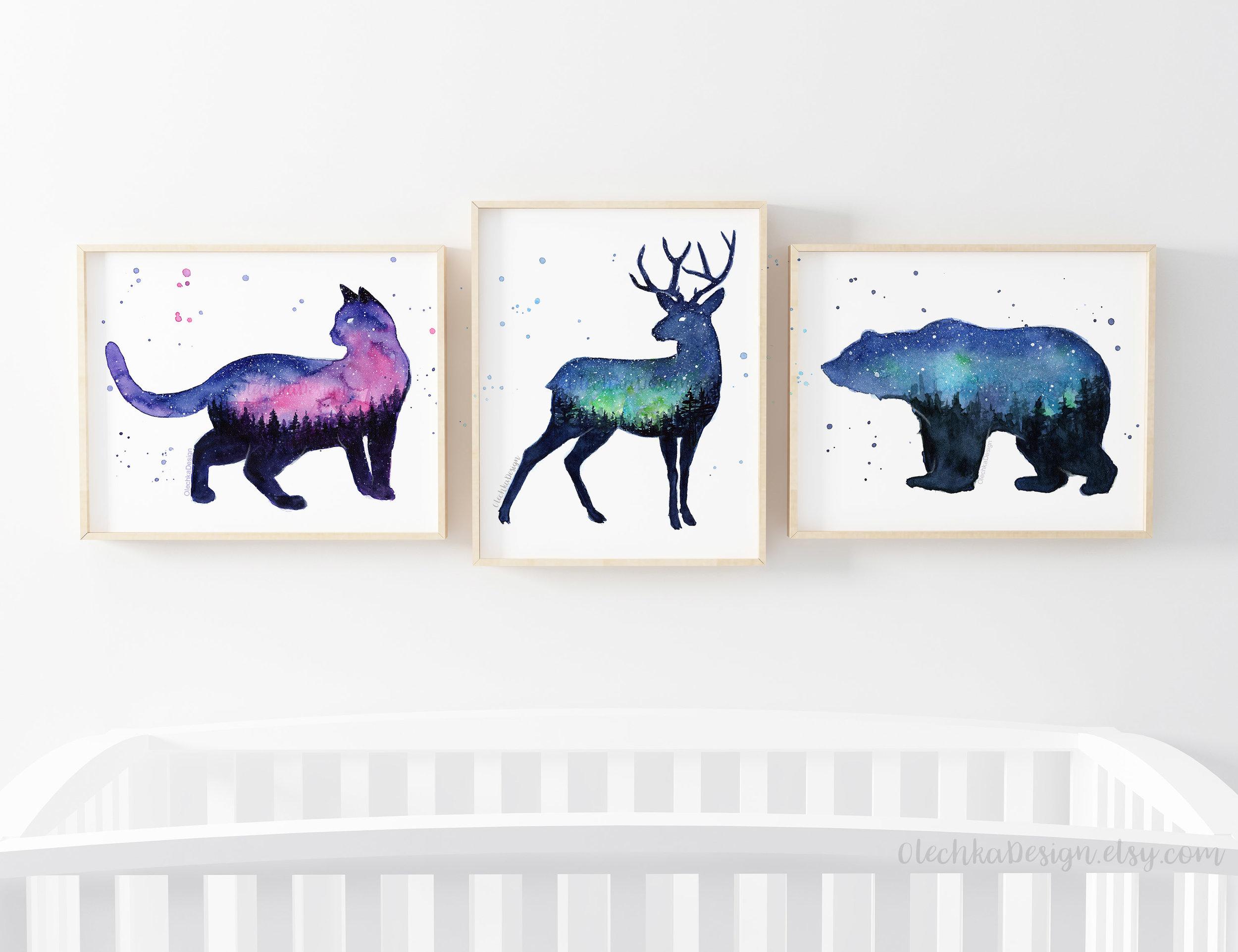 Galaxy-forest-animals-prints.jpg