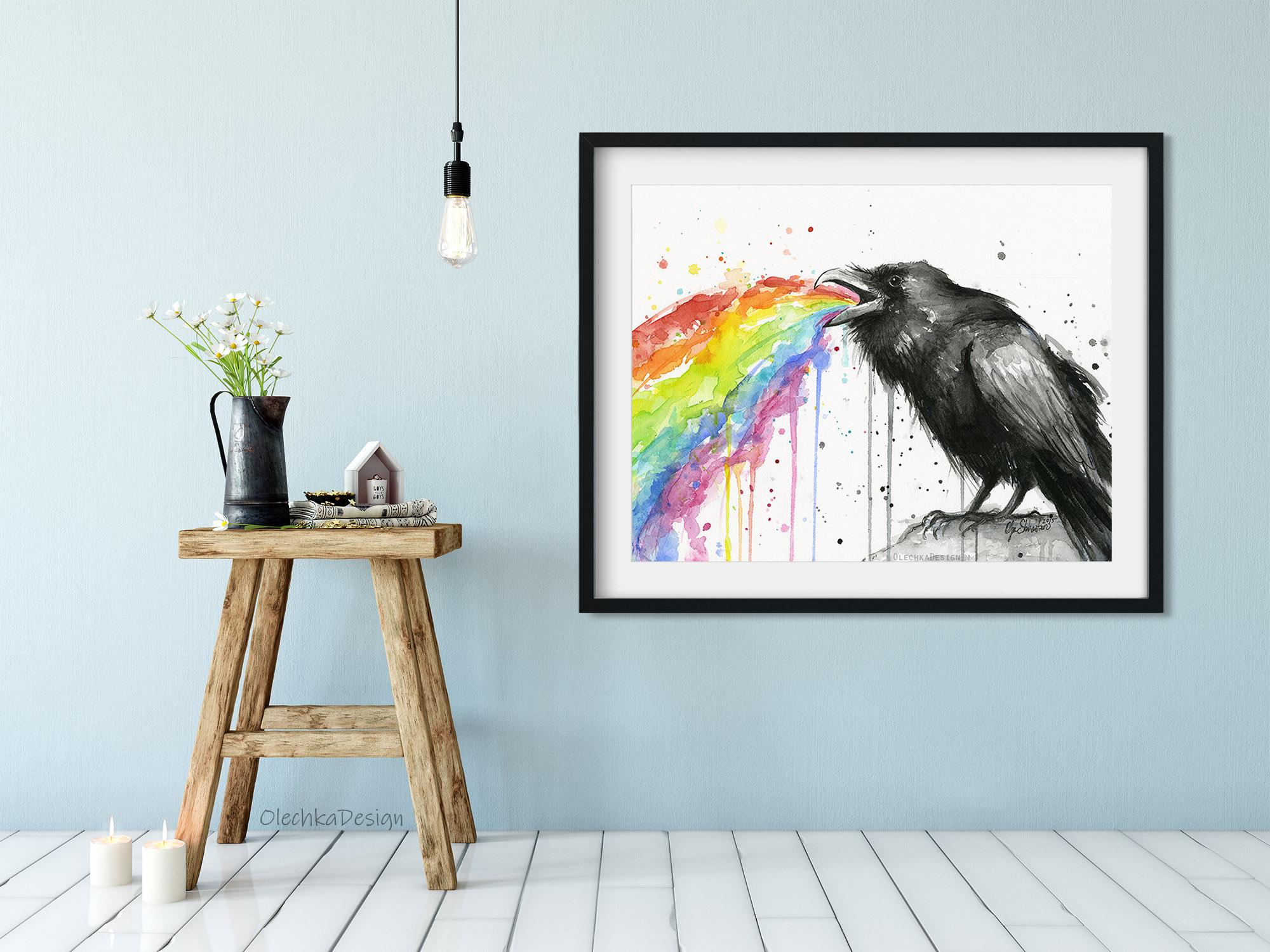 raven puking rainbow