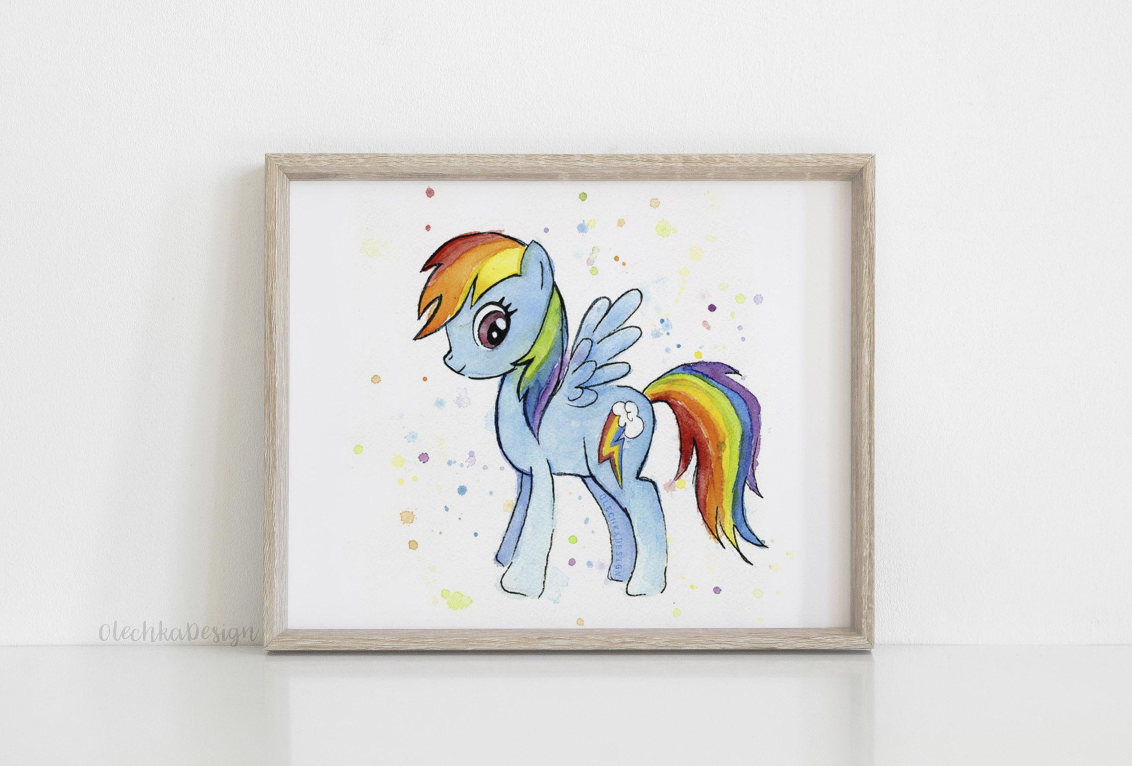 rainbow dash wall art