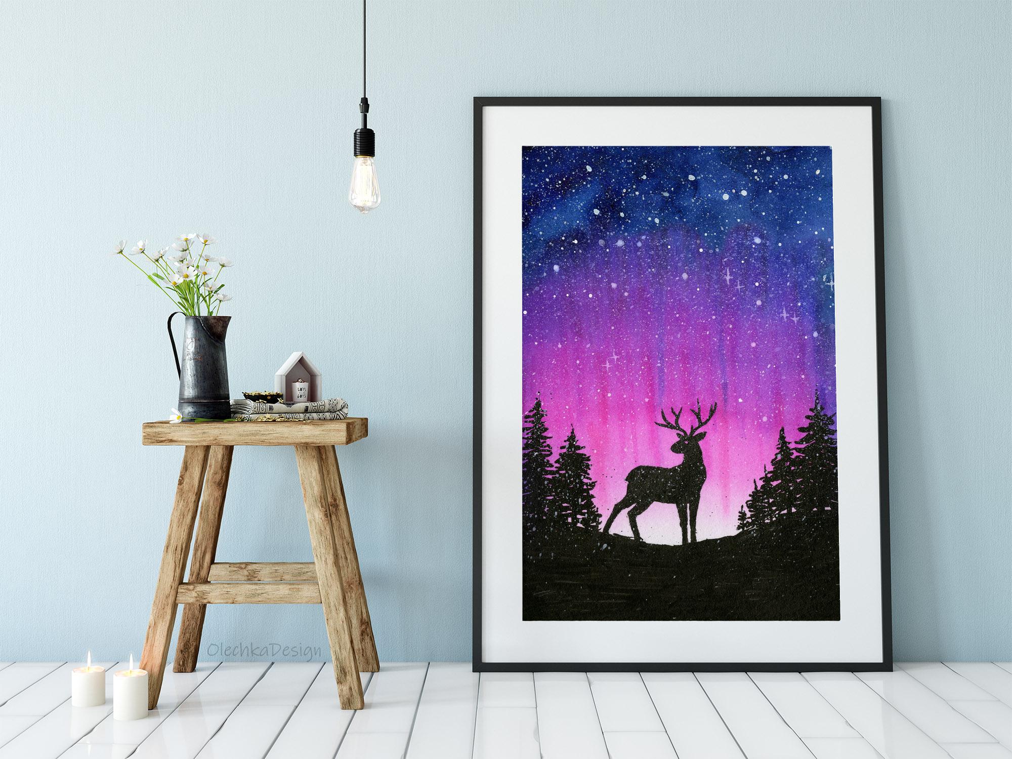 galaxy watercolor art
